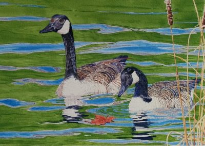 """Entry #21 – """"Patriots -Canada Geese"""" by artist Bowen"""