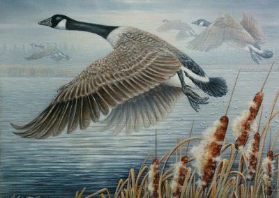 """Entry #23 – """"Up and Away – Canada Geese"""" by artist Atwater"""