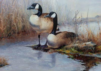 "Entry #26 – ""Spring Thaw -Canada Geese"" by artist Dakin"