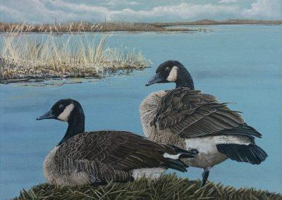 "Entry #33 – ""Tranquil Lakefront"" by artist De Santis"